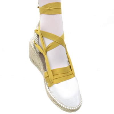 Espadrilles Wedge High Tres Vetes Mustard