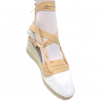 Espadrilles Wedge High Tres Vetes Light Brown