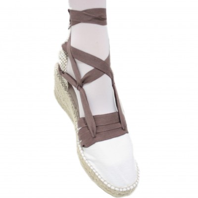 Espadrilles Wedge High Tres Vetes Brown