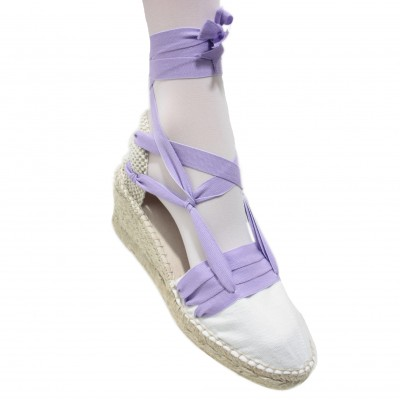 Espadrilles Wedge High Tres Vetes Light Lilac