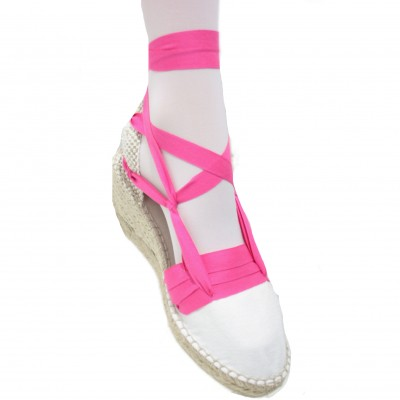 Espadrilles Wedge High Tres Vetes Fuchies