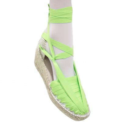 Heel Espadrilles Pintxo or Set Vetes Lime Green