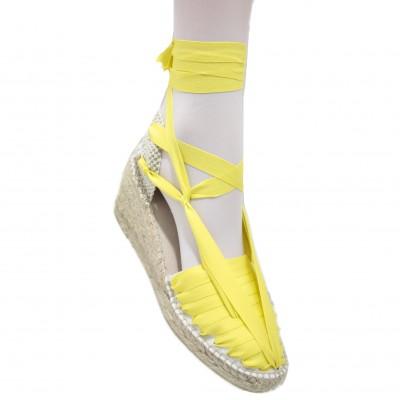 Heel Espadrilles Pintxo or Set Vetes Yellow