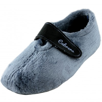 Cabrera 3003 - Woman House Slippers Closed with Velcro Hot Hairy in Blue Tones