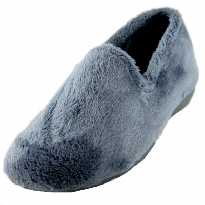 Cabrera 4042 - Comfortable Soft and Hairy Basic Blue Basic Closed House Slippers