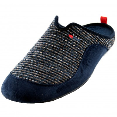 Cabrera 3513 - Open House Slippers for Boy Men Navy Blue Sports with Marbled Texture