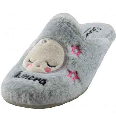 Cabrera 4339 - Girl House Slippers with Soft, Comfortable and Warm Luna Lunera Drawings