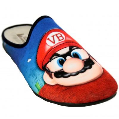 Vulcabicha 1817 - Zapatillas de Estar por Casa Hombre de Super Mario