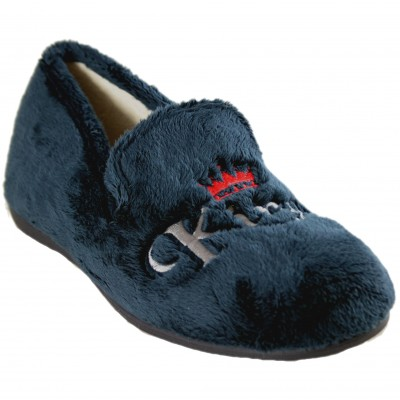 Rodevil 504 - Men's Closed House Slippers Navy Blue King