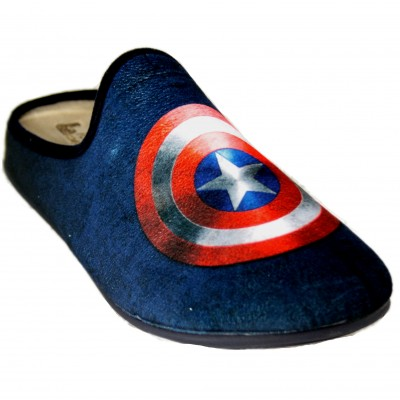 Vulcabicha 1823 - Zapatillas De Estar Por Casa Del Escudo Del Capitán América