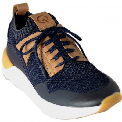 Fluchos F0874 - Casual Sneakers for Men with Very Light Breathable Fabric in Blue Color