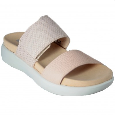 Romika Borneo 01 - Nude Open Heel Sandals with Bright Details Adaptable with Velcro
