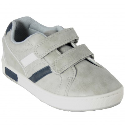 Chicco Circo - Classic Gray Trainers With Velcro Closures And Removable Insole