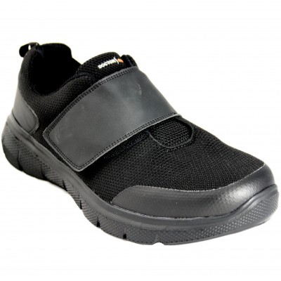 Doctor Cutillas 34210 - Sneakers With Black Breathable Fabric And Velcro