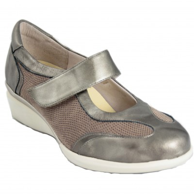 Doctor Cutillas 55438 - Brown Mary Janes With Velcro Heel And Removable Insole