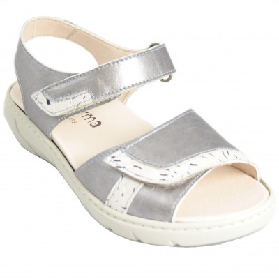 Calzafarma 8129 - Ultra Soft Leather Sandals With Adaptable Velcro and Removable Insole