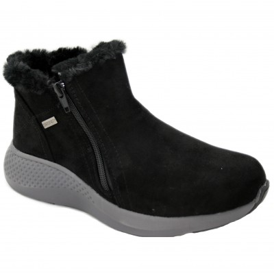 Doctor Cutillas 37312 - Ultralight Lined Black Ankle Boots with Zipper