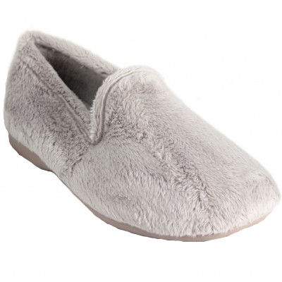 Cabrera 4042 Niebla - Comfortable Soft and Hairy Basic Beig Basic Closed House Slippers