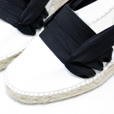 Espadrille Wedge High Tres Vetes Black