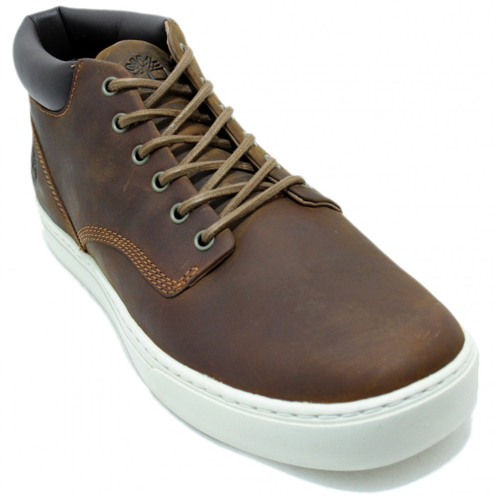 sale retailer cheapest price best loved Timberland A1JUN - Dark Brown Lace-up Boots and White Sole Color Dark Brown  Size 50