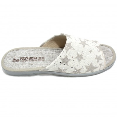 bf7e78205e7b Vulcabicha - 920 Vulcabicha 920 - Women s Summer Flat Shoes with Beig Stars  and Bright Circles
