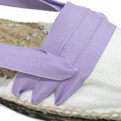 Traditional Espadrilles Flat Rubber Sole Design Three Veins or Innkeeper Color Light Purple