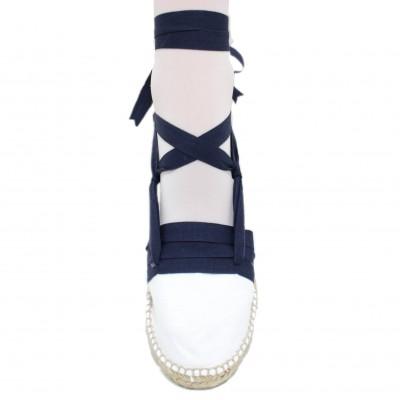 Mid Heel Espadrilles Tres Vetes Navy Blue