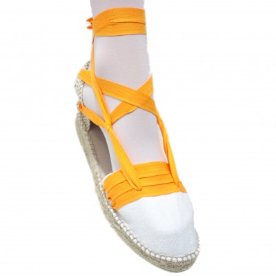 Mid Heel Espadrilles Tres Vetes Light Orange