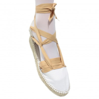 Mid Heel Espadrilles Tres Vetes Light Brown