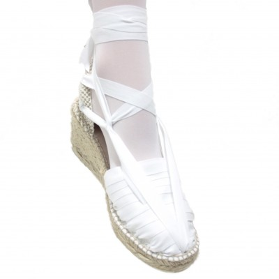 Heel Espadrilles Pintxo or Set Vetes White