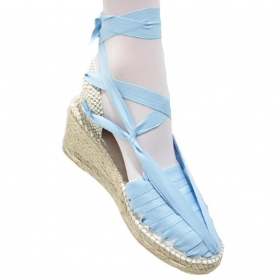 Heel Espadrilles Pintxo or Set Vetes Light Blue