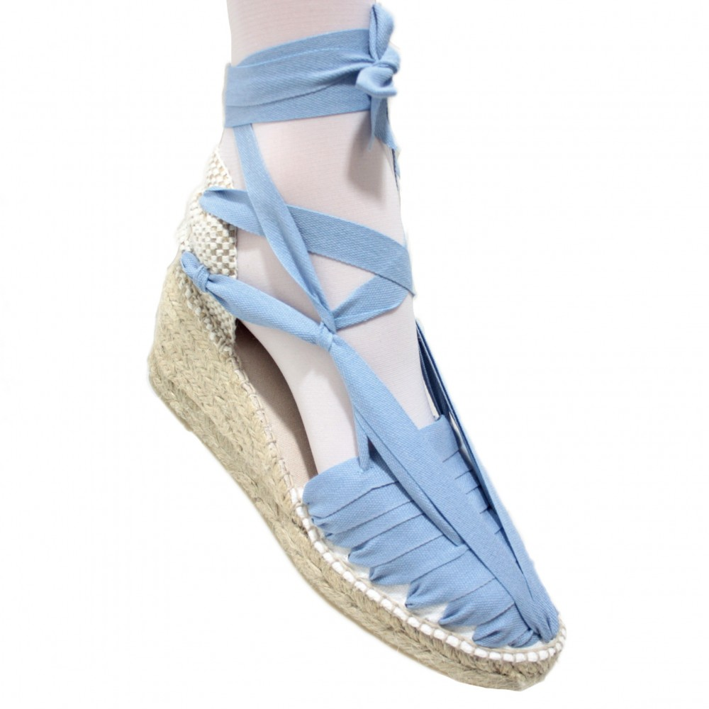 Heel Espadrilles Pintxo or Set Vetes Blue