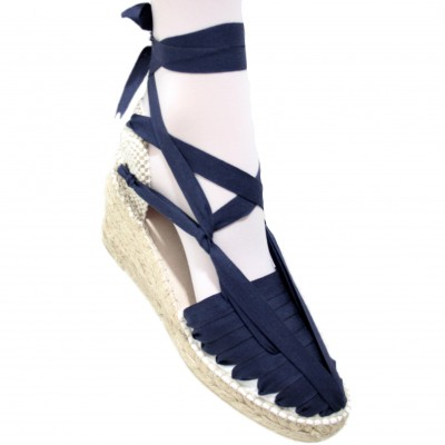 Heel Espadrilles Pintxo or Set Vetes Dark Blue