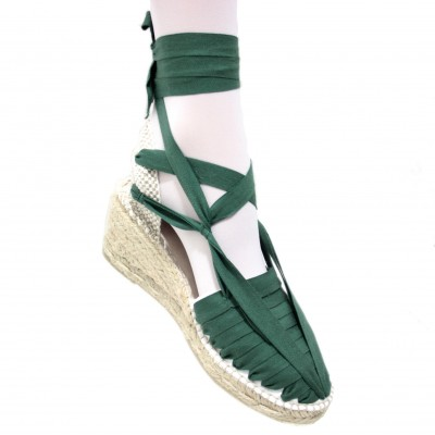 Heel Espadrilles Pintxo or Set Vetes Dark Green