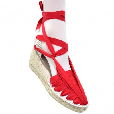 Heel Espadrilles Pintxo or Set Vetes Red