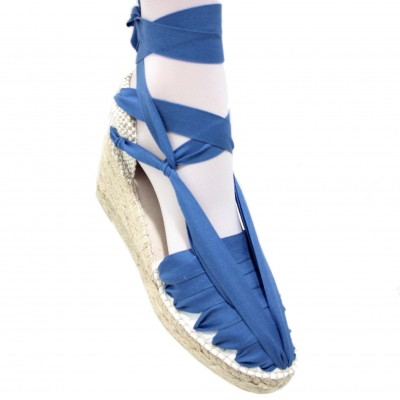 Heel Espadrilles Pintxo or Set Vetes Traditional Blue