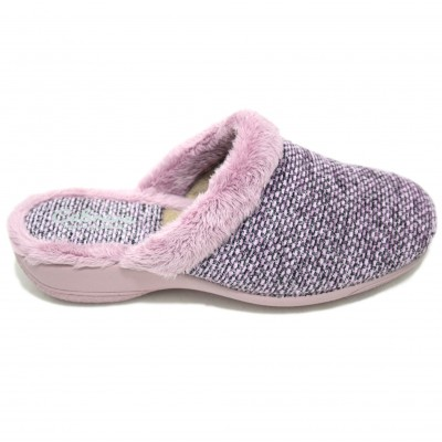 73a2eb34219e Cabrera - 5256 Cabrera 5256 - Women s Home Stay Slippers With Pink and  Lilac Wedge With Side Hairy