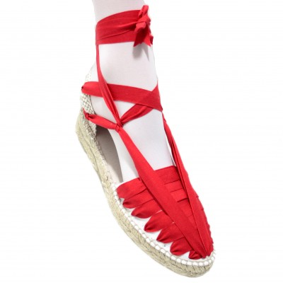 Mid Heel Espadrilles Pintxo or Set Vetes Red