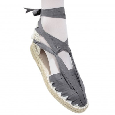 Mid Heel Espadrilles Pintxo or Set Vetes Grey
