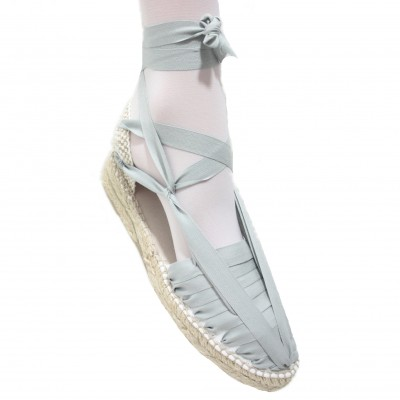 Mid Heel Espadrilles Pintxo or Set Vetes Light Grey