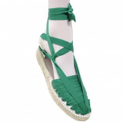 Mid Heel Espadrilles Pintxo or Set Vetes Green