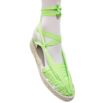 Mid Heel Espadrilles Pintxo or Set Vetes Lime Green