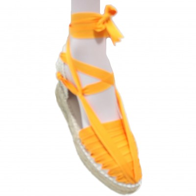 Mid Heel Espadrilles Pintxo or Set Vetes Light Orange