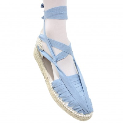 Mid Heel Espadrilles Pintxo or Set Vetes Blue