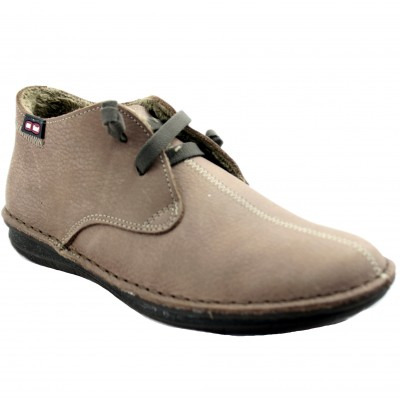 On Foot 20800 - Soft Leather Low Shoes for Women lined with Synthetic Hair Rubber Laces