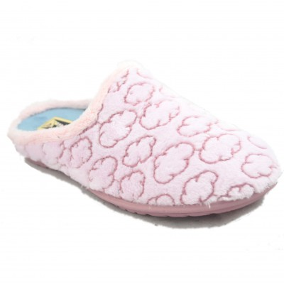Rodevil 702 - Light Pink House Slippers for Women with Cloud Print