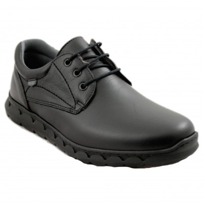 On Foot 600 - Classic Black Men's Shoes With Laces and Commodes