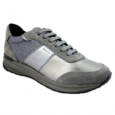 Geox Airell - Casual Sports Women's Shoes Combined With Gray Tones And Plated Effect