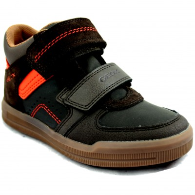 Geox Arzach - Casual Shoes for Kids with Velcro and Details with Orange