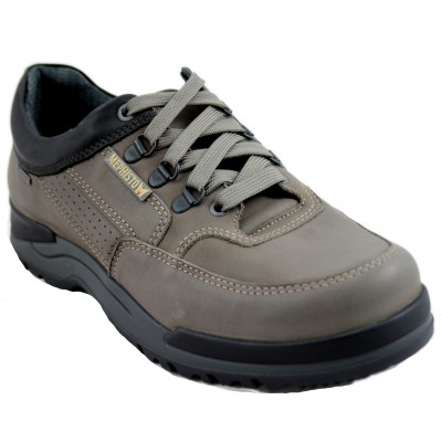 Mephisto Cliff Gt - Waterproof Brown Leather Men's Shoe With Laces